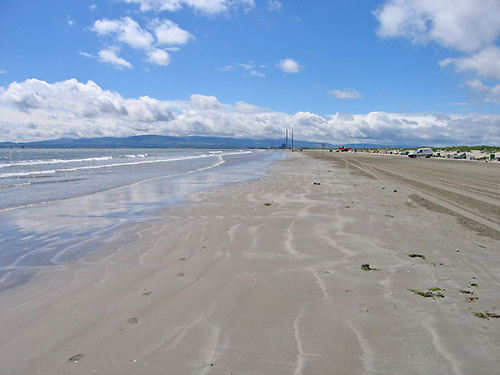 File image of Dollymount Strand on Bull Island in north Dublin