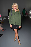 Olivia Cox<br /> front row at the Marta Jacubowski London Fashion Week SS18 catwalk show, London<br /> <br /> ©Ash Knotek  D3431  14/09/2018