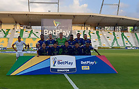 ARMENIA - COLOMBIA, 13-01-2021: Deportes Quindío y Alianza Petrolera en partido de vuelta por los cuartos de final como parte de la Copa BetPlay DIMAYOR 2020 jugado en el estadio Centenario de la ciudad de Armenia. / Deportes Quindio and Alianza Petrolera in match for the quarter-finals as part of the 2020 DIMAYOR BetPlay Cup played at Centenario stadium in Armenia city. Photo: VizzorImage / Ricardo Vejarano / Cont MÁXIMA RESOLUCIÓN POSIBLE DE ORIGEN