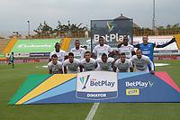 BOGOTÁ- COLOMBIA, 21-02-2021:Jugadores de Once Caldas posan para una foto previo al partido por la fecha 8 entre La Equidad y Once Caldas como parte de la Liga BetPlay DIMAYOR 2021 jugado en el estadio Metropolitano de Techo de la ciudad de Bogotá / Players of Once Caldas pose to a photo prior Match for the date 8  between La Equidad and Once Caldas as part of the BetPlay DIMAYOR League I 2021 played at Metropolitano de Techo  stadium in Bogota city. Photo: VizzorImage / Felipe Caicedo / Staff