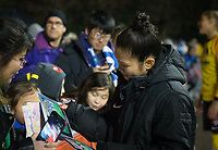 Seattle, WA - Saturday March 24, 2018: Nahomi Kawasumi during a regular season National Women's Soccer League (NWSL) match between the Seattle Reign FC and the Washington Spirit at the UW Medicine Pitch at Memorial Stadium. The Seattle Reign FC won 2-1.