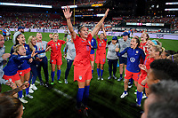 St. Louis, MO - Thursday May 16, 2019: The women's national teams of the United States (USA) and New Zealand (NZL) play in an international friendly match at Busch Stadium.