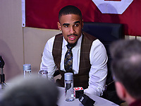New York, NY - December 14, 2019: Heisman Trophy finalist Oklahoma Quarterback Jalen Hurts participates in a media availability at the New York Marriott Marquis before the announcement of the 2019 Heisman Trophy Award December 14, 2019.  (Photo by Don Baxter/Media Images International)