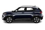 Car Driver side profile view of a 2020 Hyundai Venue Denim 5 Door SUV Side View