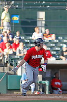 Potomac Nationals catcher Craig Manuel (3) at bat during a game against the Myrtle Beach Pelicans at Ticketreturn.com Field at Pelicans Ballpark on May 22, 2015 in Myrtle Beach, South Carolina.  Myrtle Beach defeated Potomac 8-4. (Robert Gurganus/Four Seam Images)