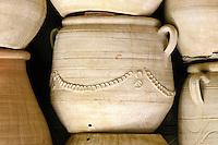 Ceramics, Nabeul, Tunisia.  Garden Pot Awaiting Export.