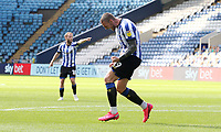 Sheffield Wednesday's Connor Wickham roars in celebration after scoring his side's equalising goal to make the score 1 - 1<br /> <br /> Photographer Rich Linley/CameraSport<br /> <br /> The EFL Sky Bet Championship - Sheffield Wednesday v Nottingham Forest - Saturday 20th June 2020 - Hillsborough - Sheffield <br /> <br /> World Copyright © 2020 CameraSport. All rights reserved. 43 Linden Ave. Countesthorpe. Leicester. England. LE8 5PG - Tel: +44 (0) 116 277 4147 - admin@camerasport.com - www.camerasport.com