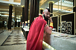 © Joel Goodman - 07973 332324 . 25/07/2015 . Manchester , UK . The Midland Hotel . Visitors to Comic Con on the streets of Manchester after venue - Manchester Central's - doors are shut . Photo credit : Joel Goodman