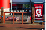 The gates from Middlesbrough's old ground Ayresome Park, outside the Riverside stadium Middlesbrough. 16th January 2021, Middlesbrough 0 Birmingham 1, for WSC.