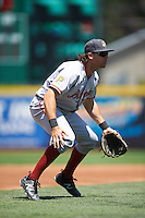 Altoona Curve third baseman Eric Wood (3) during a game against the Erie SeaWolves on July 10, 2016 at Jerry Uht Park in Erie, Pennsylvania.  Altoona defeated Erie 7-3.  (Mike Janes/Four Seam Images)