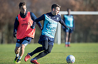 Matt Bloomfield of Wycombe Wanderers & Sam Saunders of Wycombe Wanderers during the Wycombe Wanderers Training session at Wycombe Training Ground, High Wycombe, England on 17 January 2019. Photo by Andy Rowland.