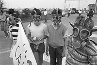 - demonstration against electrothermal power station of Tavazzano ....- manifestazione contro la centrale elettrotermica a carbone di Tavazzano