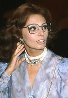 Sophia Loren 1982<br /> Photo By John Barrett/PHOTOlink