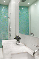 Contemporary marble bathroom worktop