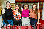 Alex White, Moira Hanafin, Mary Brosnan and Sarah Kelliher enjoying the evening in Cassidys on Friday,