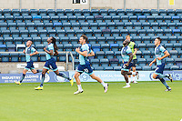 Players during the Open Training Session in front of supporters during the Wycombe Wanderers 2016/17 Team & Individual Squad Photos at Adams Park, High Wycombe, England on 1 August 2016. Photo by Jeremy Nako.