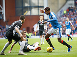 Nathan Oduwa leading the Queens players a merry dance