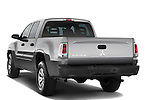 Rear three quarter view of 2008 Mitsubishi Raider pickup truck Stock Photo