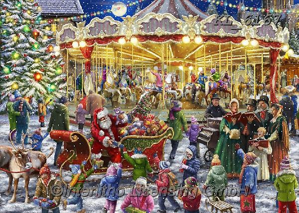 Interlitho-Marcello, CHRISTMAS SANTA, SNOWMAN, WEIHNACHTSMÄNNER, SCHNEEMÄNNER, PAPÁ NOEL, MUÑECOS DE NIEVE, paintings+++++,carousel,KL6167,#x#