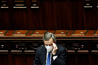 The Italian Prime Minister Mario Draghi at the Chamber of Deputies during the discussion and vote of confidence in the new Government. Rome (Italy), February 18th 2021<br /> Photo Samantha Zucchi Insidefoto