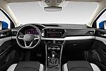 Stock photo of straight dashboard view of 2022 Volkswagen Taos SEL 5 Door SUV Dashboard