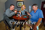 JJ Broderick from Castleisland celebrating his 60th birthday and enjoying the reopening of Kearney's Bar in Castleisland on Monday, l to r: Danny Broderick Siobhan Tully and JJ Broderick.