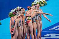 Team Canada CAN<br /> Synchro Women's Team Free Final Free Routine - Kazan Arena<br /> Day08 31/07/2015<br /> XVI FINA World Championships Aquatics Swimming<br /> Kazan Tatarstan RUS July 24 - Aug. 9 2015 <br /> Photo A.Masini/Deepbluemedia/Insidefoto