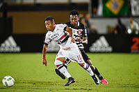 Orlando, FL - Saturday Jan. 21, 2017: São Paulo midfielder Cueva (10) dribbles away from Corinthians left back Moisés (6) during the first half of the Florida Cup Championship match between São Paulo and Corinthians at Bright House Networks Stadium.
