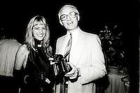 Montreal (Qc) CANADA - Auguste 24 1987 File Photo - World Film Festival - Anne-Marie Losique (L), John (JJ) Raudsepp, Photographer (R)