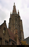 Onze-Lieve-Vrouwkerk Church of Our Lady, 122 meter Brick Tower, Bruges, Brugge, Belgium