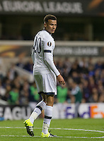 Dele Alli of Tottenham Hotspur during the UEFA Europa League match between Tottenham Hotspur and Qarabag FK at White Hart Lane, London, England on 17 September 2015. Photo by Andy Rowland.