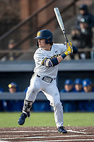 Michigan Wolverines outfielder Jesse Franklin (7) at bat against the San Jose State Spartans on March 27, 2019 in Game 2 of the NCAA baseball doubleheader at Ray Fisher Stadium in Ann Arbor, Michigan. Michigan defeated San Jose State 3-0. (Andrew Woolley/Four Seam Images)