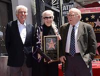 Barbara Bain + Dick Van Dyke + Ed Asner @ her Walk of Fame ceremony held @ 6767 Hollywood blvd.<br /> April 28, 2016
