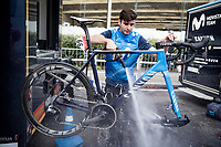 post race clean<br /> <br /> 106th Liège-Bastogne-Liège 2020 (1.UWT)<br /> 1 day race from Liège to Liège (257km)<br /> <br /> ©kramon