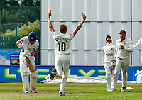 21st September 2021; Aigburth, Merseyside, England; County Championship Cricket, Lancashire versus Hampshire, Day 1; Lancashire claim their third wicket before noon on the first day as George Balderson has Nick Gubbins of Hampshire caught behind by Lancashire keeper Alex Davies