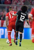 25.04.2018, Football UEFA Champions League 2017/2018, semi final 1st leg, FC Bayern Muenchen - Real Madrid, in Allianzarena Muenchen. Jerome Boateng (middle, FC Bayern Muenchen)  Marcelo (Real Madrid). *** Local Caption *** © pixathlon<br /> <br /> Contact: +49-40-22 63 02 60 , info@pixathlon.de