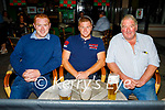 Enjoying the evening in An Cearnog on Saturday, l to r: Ciaran Golden, Shane McGreal and Derry Sugrue from Tralee.
