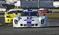 The #8 Ford Riley of Ryan Dalziel, Enzo Potolicchio, Alex Popow, Lucas Luhr and Allan McNish in action  during the Rolex 24 at Daytona, Daytona International Speedway, Daytona Beach, FL, January 2011.  (Photo by Brian Cleary/www.bcpix.com)