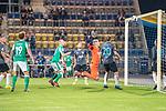 12.09.2020, Ernst-Abbe-Sportfeld, Jena, GER, DFB-Pokal, 1. Runde, FC Carl Zeiss Jena vs SV Werder Bremen<br /> <br /> <br /> kopfball Davy Klaassen (Werder Bremen #30) an Die latte gegen Lukas Sedlak (Carl Zeiss Jena #12) René Lange (Carl Zeiss Jena #20)<br /> Justin Schau (Carl Zeiss Jena #25) Joshua Sargent (Werder Bremen #19)<br /> <br />  <br /> <br /> <br /> Foto © nordphoto / Kokenge