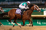 November 28, 2020: Mandaloun, trained by Brad Cox and ridden by Florent Geroux, wins Race 10, allowance optional claiming, at Churchill Downs in Louisville, Kentucky on November 28 2020. Jessica Morgan/Eclipse Sportswire.