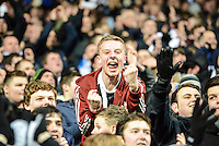14.03.2013 Newcastle, England. Newcastle fans go wild after a last minute goal sees them through to the last eight during the Europa League game between Newcastle and Anzhi Makhachkala from St James Park.