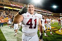 TEMPE, AZ - November 13, 2010: James McGillicuddy during a football game at Arizona State University in Tempe, Arizona. Stanford won 17-13.