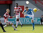 Hamilton Accies v St Johnstone…01.04.17     SPFL    New Douglas Park<br />Paul Paton clears from Ali Crawford<br />Picture by Graeme Hart.<br />Copyright Perthshire Picture Agency<br />Tel: 01738 623350  Mobile: 07990 594431