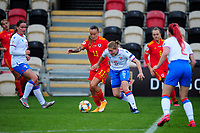 Natasha Harding of Wales Women's in action during the UEFA Women's EURO 2022 Qualifier match between Wales Women and Faroe Islands Women at Rodney Parade in Newport, Wales, UK. Thursday 22 October 2020