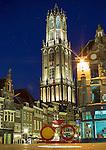 Nederland, Utrecht , 17-06-2014, Grand Vélo unveiled<br /> From today on a gigantic Le Tour Utrecht bike decorates the ancient Stadhuisbrug in Utrecht. Start Tour de France 2015 van uit Utrecht. This symbol for Le Grand Départ will remain on this beautiful spot in the centre of Utrecht until July 2015.<br /> foto Michael Kooren/Hollandse Hoogte