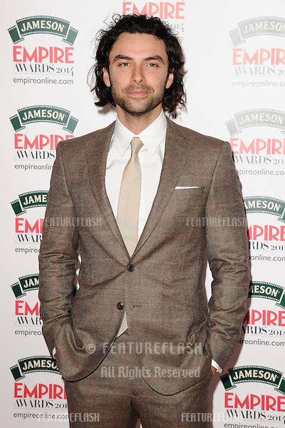 Aidan Turner<br /> arives for the Empire Magazine Film Awards 2014 at the Grosvenor House Hotel, London. 30/03/2014 Picture by: Steve Vas / Featureflash