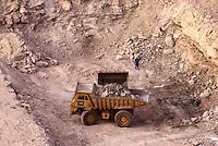 Arlit, Niger.  Ore Mover in Open-pit Uranium Mine.