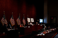 """The United States House Judiciary committee holds a hearing on """"Oversight of the Department of Justice: Political Interference and Threats to Prosecutorial Independence"""" on Capitol Hill in Washington DC on June 24th, 2020.<br /> Credit: Anna Moneymaker / Pool via CNP/AdMedia"""