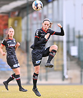 Sheryl Merchiers (11) of Zulte-Waregem pictured during a female soccer game between FC Femina White Star Woluwe and SV Zulte Waregem on the fifth matchday of play off 2 in the 2020 - 2021 season of Belgian Scooore Womens Super League , Saturday 8 th of May 2021  in Woluwe , Belgium . PHOTO SPORTPIX.BE   SPP   DAVID CATRY