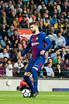 Gerard Pique Bernabeu of FC Barcelona in action during the La Liga 2017-18 match between FC Barcelona and Real Madrid at Camp Nou on May 06 2018 in Barcelona, Spain. Photo by Vicens Gimenez / Power Sport Images